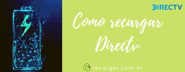 Como recargar Directv