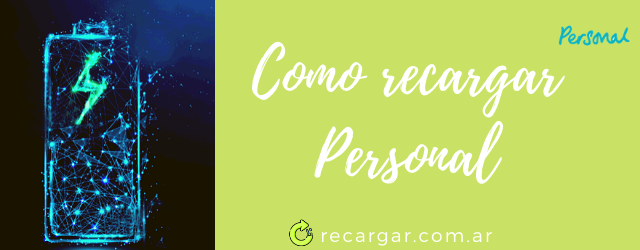Como recargar Personal