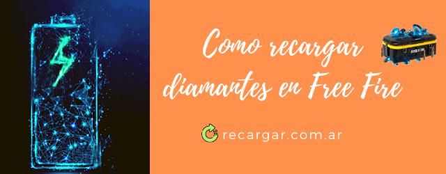 Como recargar diamantes en FreeFire