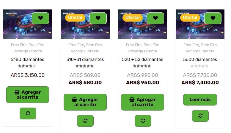 recargar free fire