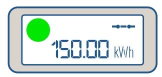 Luz verde medidor energía prepago